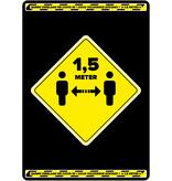 Easydot Wit Waarschuwing stickers: Afstand bewaren 60cm x 85cm