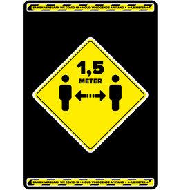 Houd 1,5 meter afstand poster (Vanaf 5 stuks)