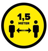 Store floor sticker distance 1.5 meters (round)