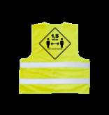 Gele Hesjes Los chalecos amarillos mantienen la distancia (de 5 piezas)
