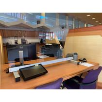 Veiligheid/ preventie plexiglas tafel corona scherm deluxe