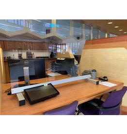 Veiligheid/ preventie plexiglas tafel scherm deluxe