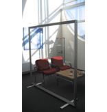 Veiligheid/ preventie plexiglas vrijstaand scheidingswand corona deluxe