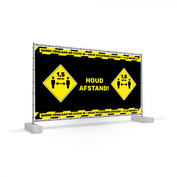 Bannière de clôture mobile Corona COVID-19