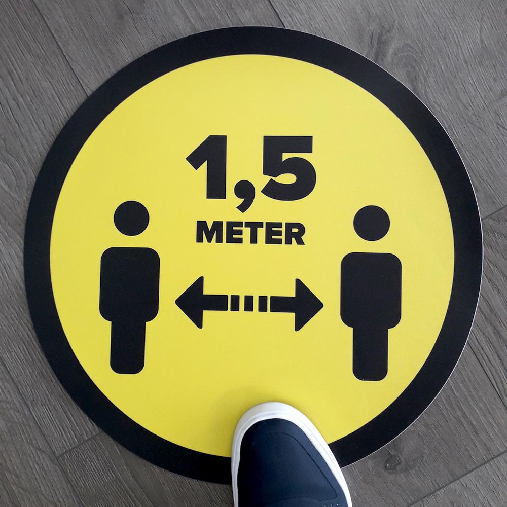 Distance de l'autocollant de plancher du magasin 1,5 mètre (rond)