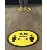 Vloersticker afstand bewaren 1,5 Meter (42 cm Rond)