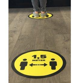 Vloersticker afstand bewaren 1,5 Meter (42CM rond)