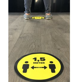 Store floor sticker distance 1.5 Meter (25CM around)