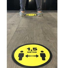 Vloersticker afstand bewaren 1,5 Meter (25CM rond)