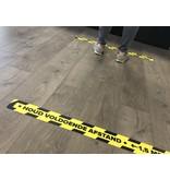 Halten Sie Abstand Bodenaufkleber Corona 7,5x90cm