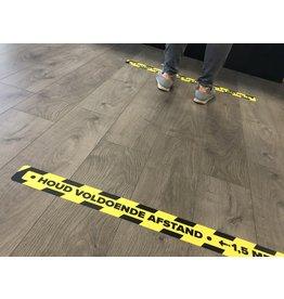 Afstand houden vloersticker Corona 7,5x90cm