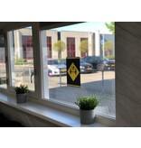 Easydot Wit Waarschuwing stickers: Afstand bewaren A4