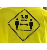 Gele Hesjes Gelbe Westen halten Abstand (von 5 Stück)