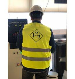 Gele Hesjes Los chalecos de seguridad amarillos mantienen la distancia (de 5 piezas)