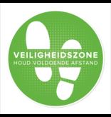 Floor sticker Safety zone (42CM round) Keep a distance