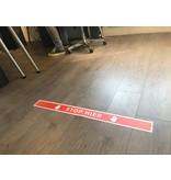 Para aquí pegatina de piso Corona 7.5x90cm