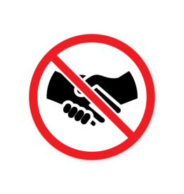 Easydot Wit Aufkleber Verbot Händeschütteln