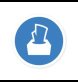 Easydot Wit Autocollant utiliser le papier de soie