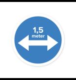 Easydot Wit Sticker gebod afstand houden 1,5 mtr
