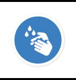 Easydot Wit Etiqueta de lavado de manos obligatoria corona