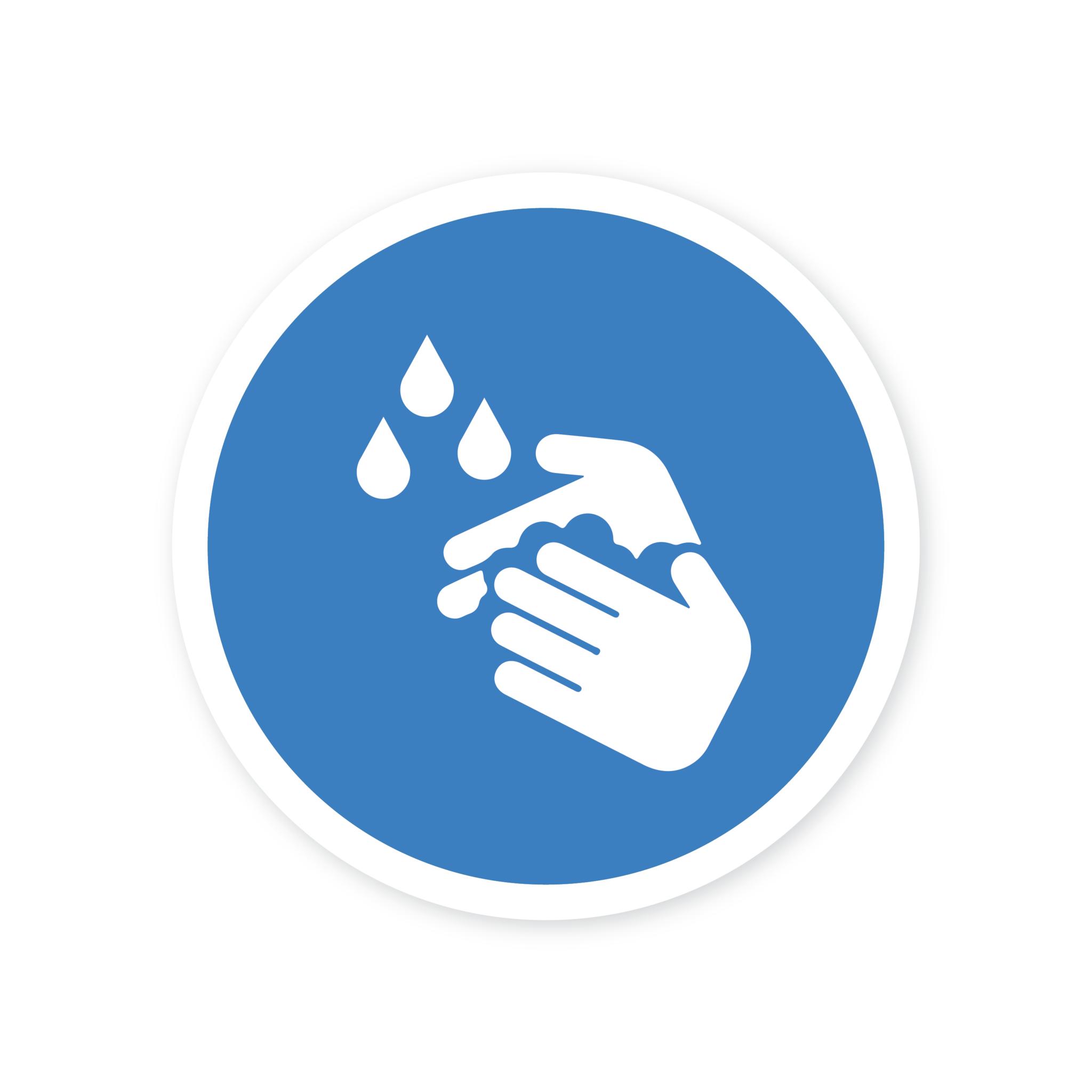 Easydot Wit Autocollant lavage des mains obligatoire corona