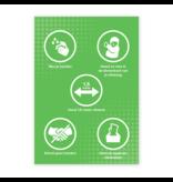 Easydot Wit Warning stickers: Sticker 60 x 85 cm RIVM rules
