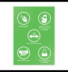 Easydot Wit Stickers A4: RIVM maatregelen