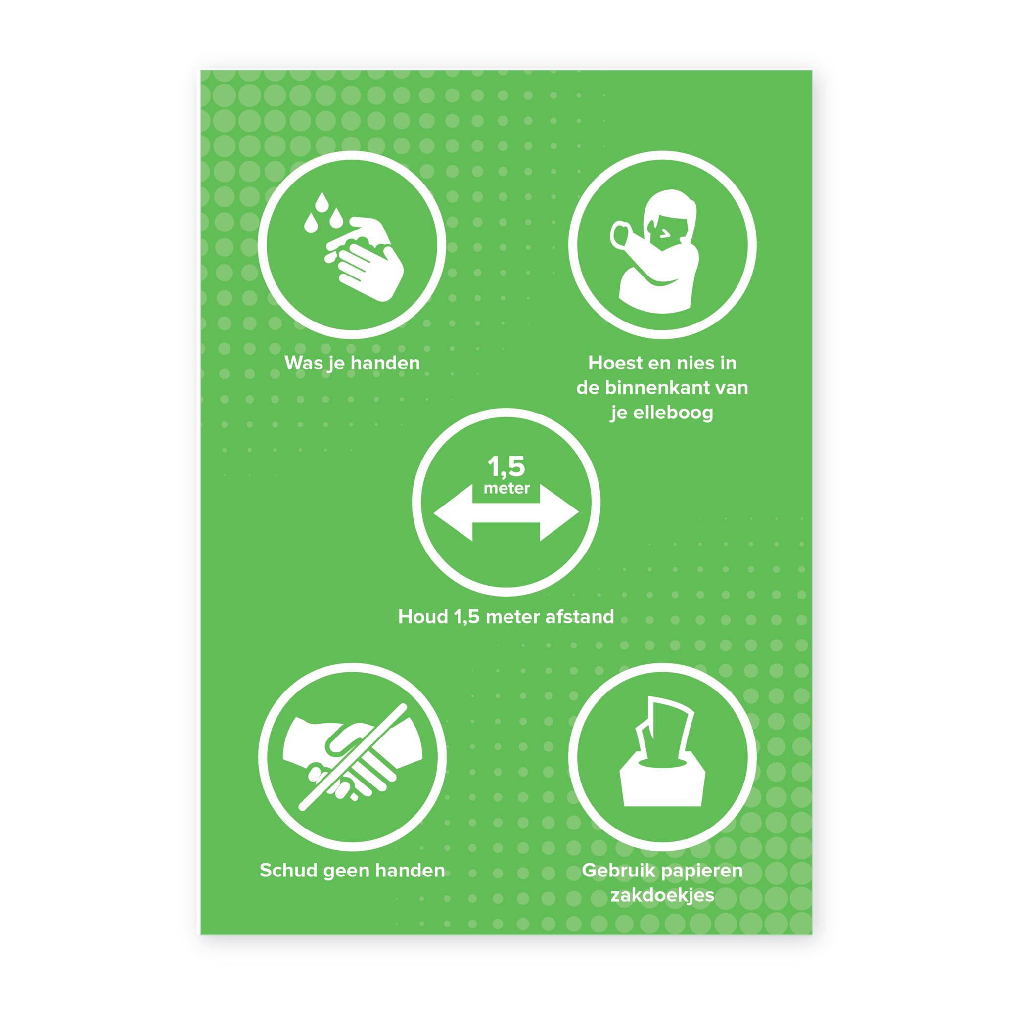 Easydot Wit Waarschuwing stickers: RIVM maatregelen (Vanaf 4 stuks)
