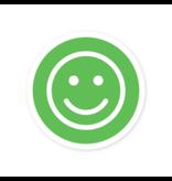 Easydot Wit Smiley beschikbaar sticker corona