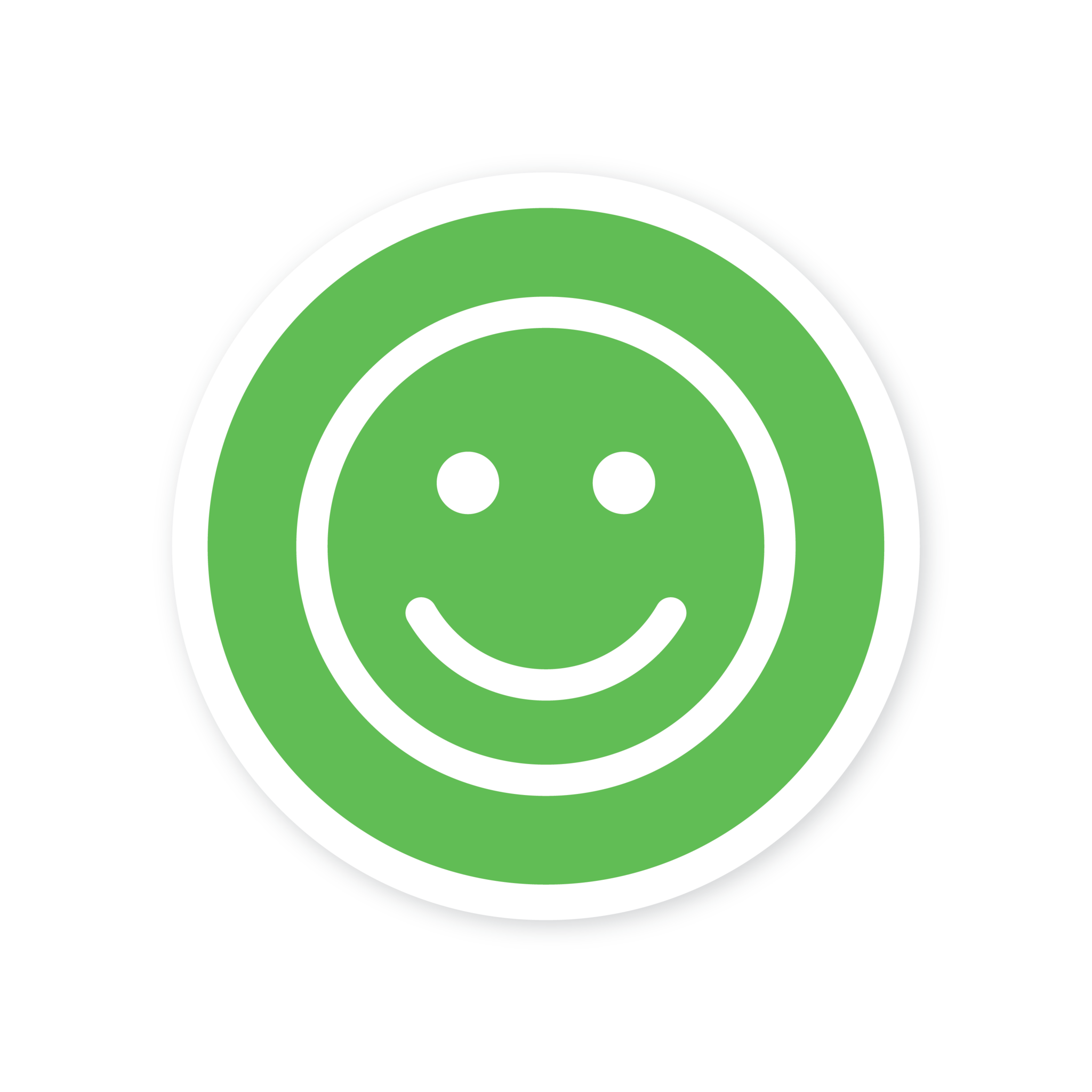Easydot Wit Smiley verfügbare Aufkleberkorona