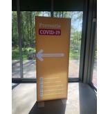 Hand-desinfectie display preventie covid 19 incl handgel