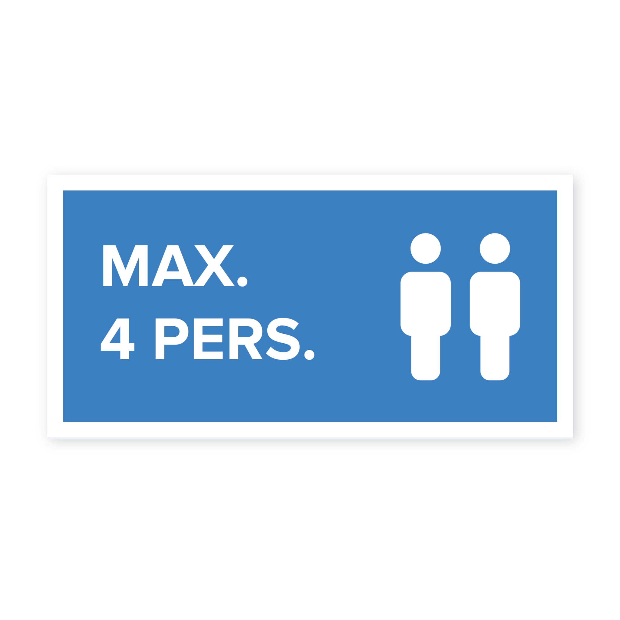 Easydot Wit Max 4 pers. sticker