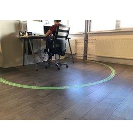 Adhesivo de piso Zona de trabajo zona de seguridad