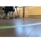Bodenaufkleber Sicherheitszone Arbeitsplatz halbrund