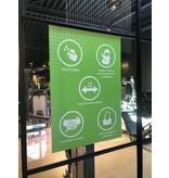 Easydot Wit Waarschuwing stickers: Sticker 60 x 85 cm RIVM regels