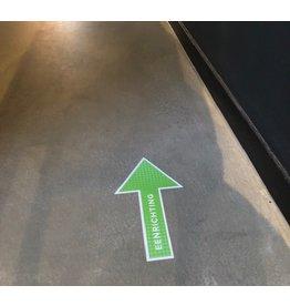 Piso adhesivo flecha unidireccional