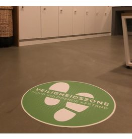Floor sticker Safety zone (42CM round)