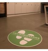Cubierta del piso - Vinilo Zona de seguridad Mantenga una distancia segura