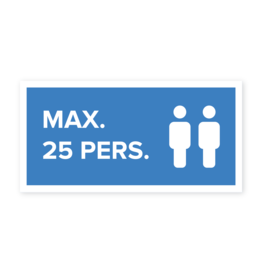Easydot Wit Max 25 pers. sticker