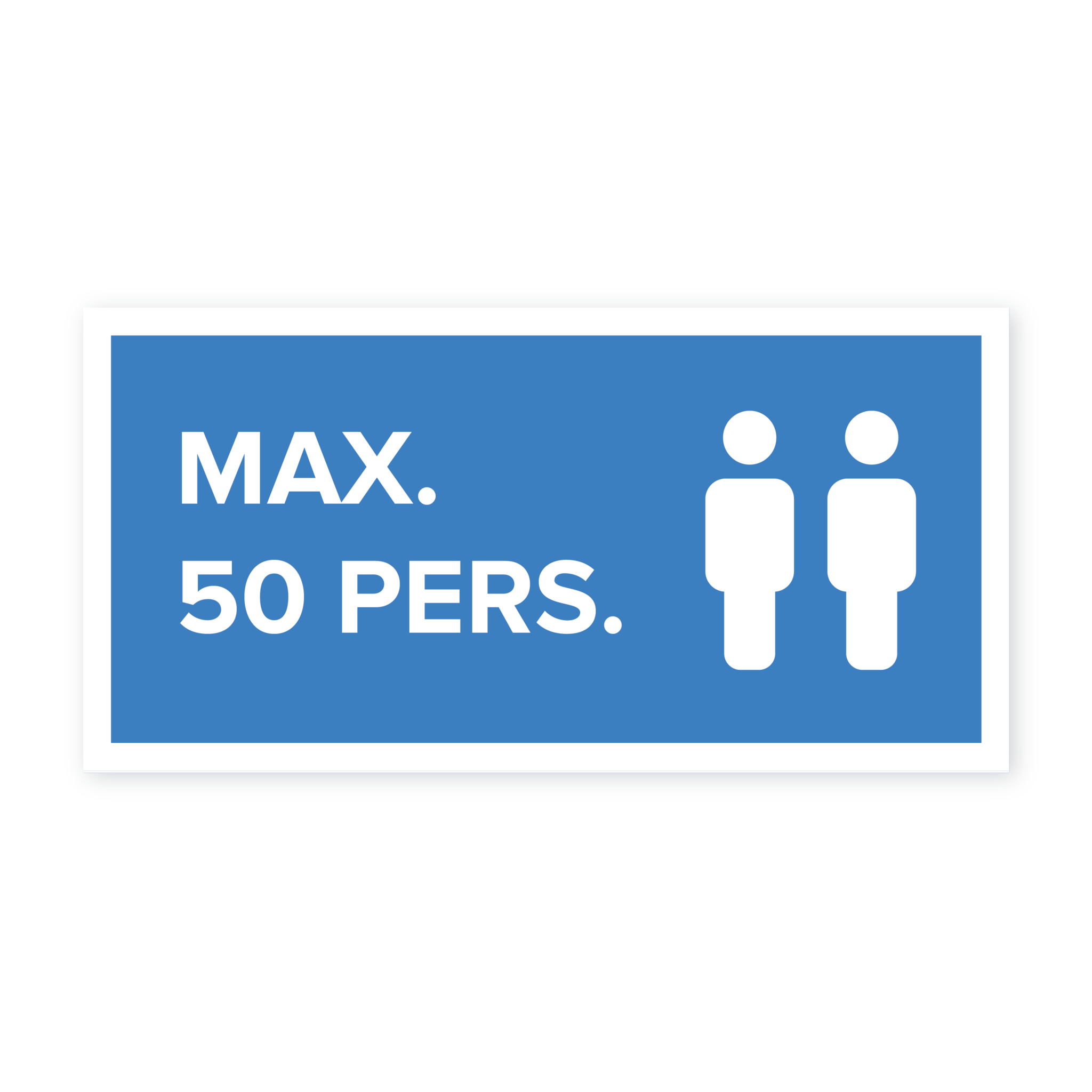 Easydot Wit Max 50 pers. sticker
