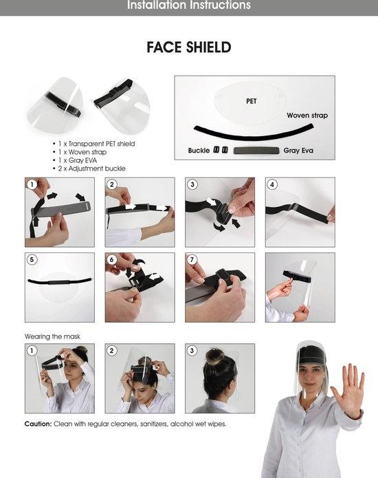 Gesichtsschutz - Spritzschutz