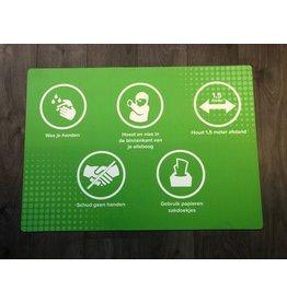 Bodenmatte gemäß den RIVM-Regeln