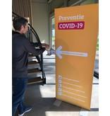 Écran de prévention de la désinfection Covid 19 avec gel pour les mains