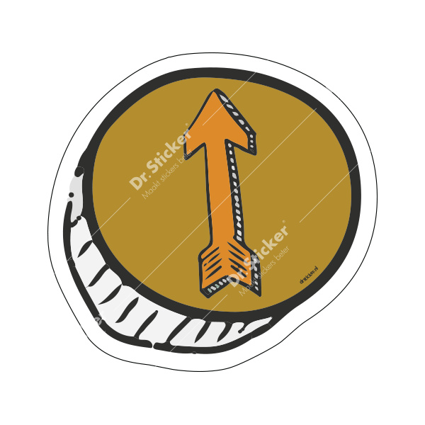 Route floor stickers OUTSIDE school / children set