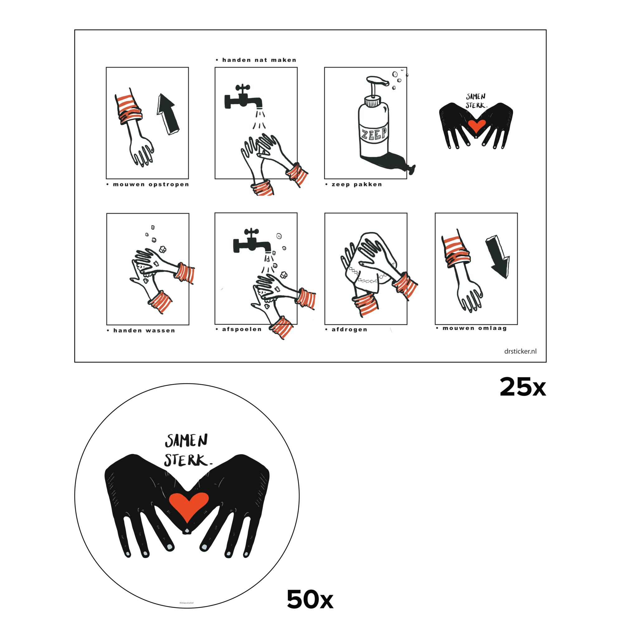 Kit de décalcomanies École d'hygiène Bien se laver les mains