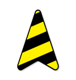 Floor sail - Vinyl distance arrow routing 40 x 27.5 cm