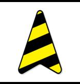 Vela en el piso - Vinilo distancia flecha ruteo 40 x 27.5 cm