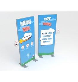 Hand-desinfectie display 80 x 200 cm school