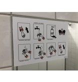 Decal set Hygiene school Wash hands well