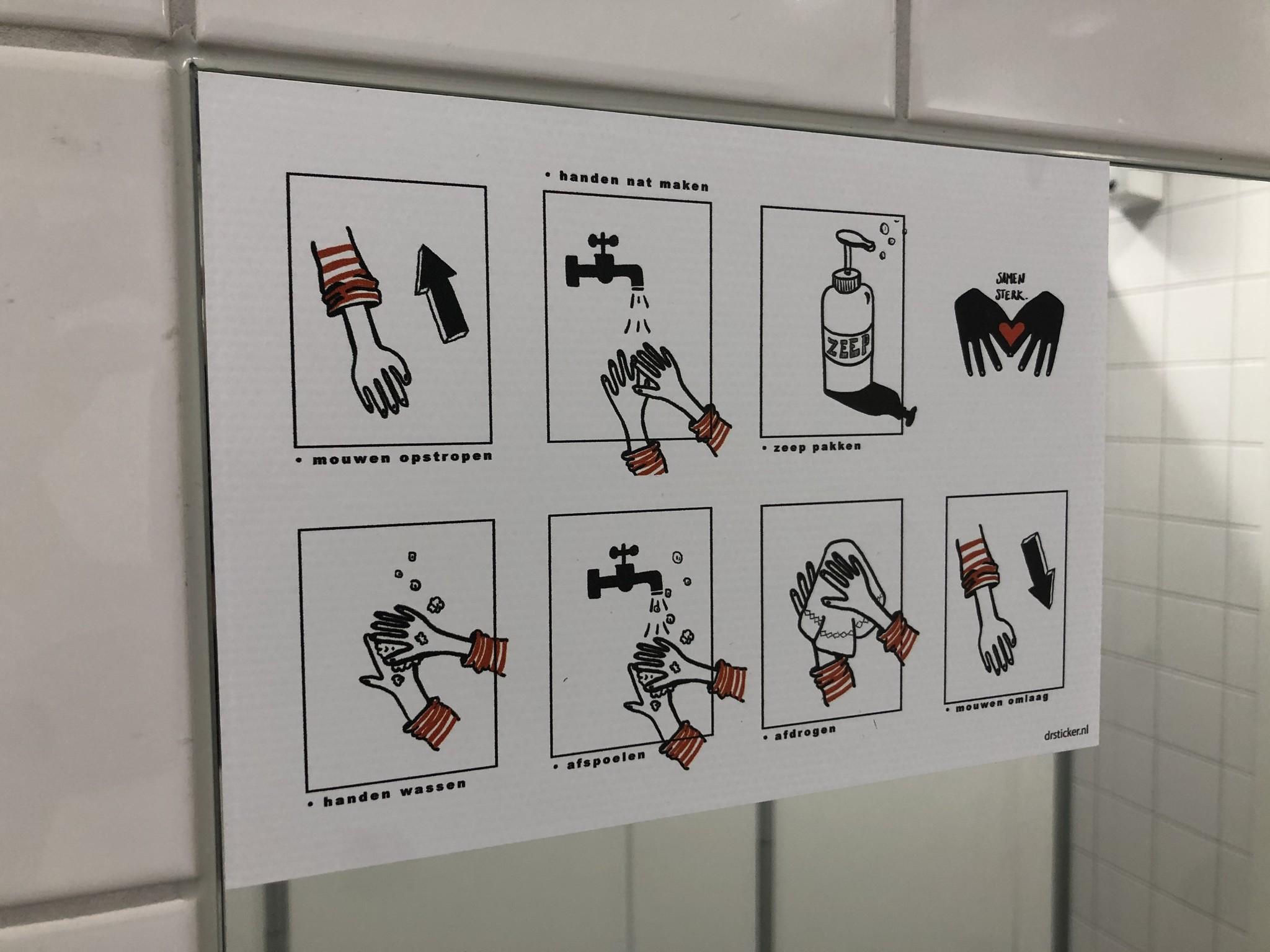 Juego de calcomanías Higiene escolar Lavarse bien las manos